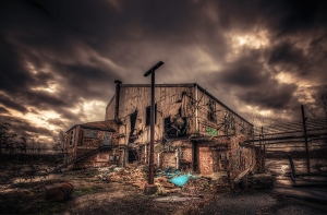derelict-factory-in-a-moody-sunrise