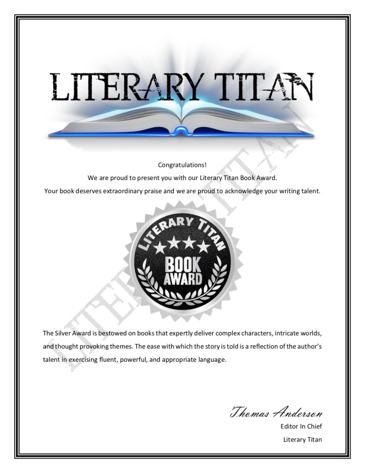 Literary Titan Book Award Certificate - Silver