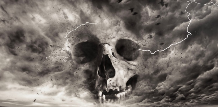Fantasy Storm Macabre Horror Dark Skull Gothic